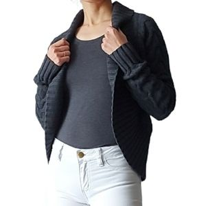 Mexx cocoon wool blend cardigan sweater gray